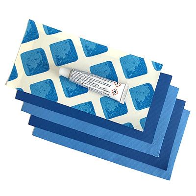 Ремкомплект для бассейнов с клеем, синий