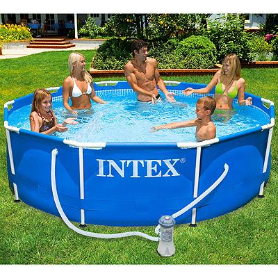 Каркасный бассейн Intex Metal Frame, 305х76 см, фильтр-насос