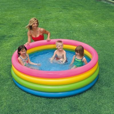 """Детский бассейн """"Закат"""", большой 168*46 см, клапан"""