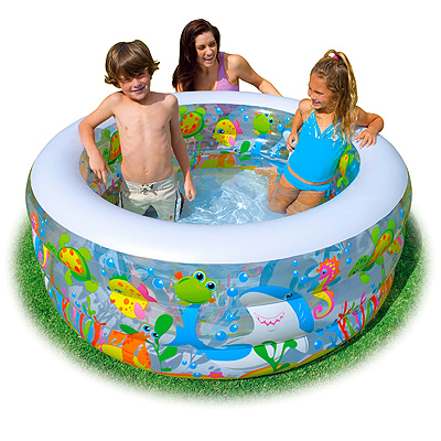 """Детский бассейн """"Аквариум"""", 152*56 см, надувное дно, клапан"""