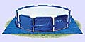 Подстилка под круглый бассейн, 472х472 см, 28048/58932 Intex