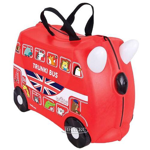 cacb3d0cd9a4 Детский чемодан-каталка Автобус Борис с наклейками купить в Москве ...