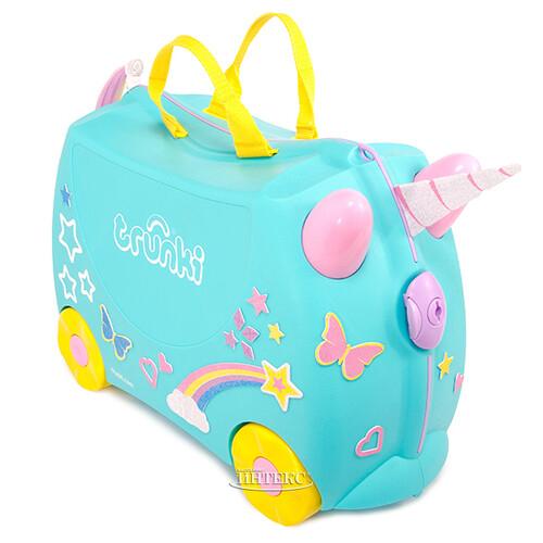 351aa0ec0384 Детский чемодан-каталка Единорог Una с наклейками, эксклюзивная коллекция  Trunki
