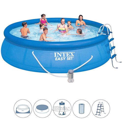 838c16d00144b Надувной бассейн Easy Set 457*107 см, фильтр-насос, аксессуары INTEX