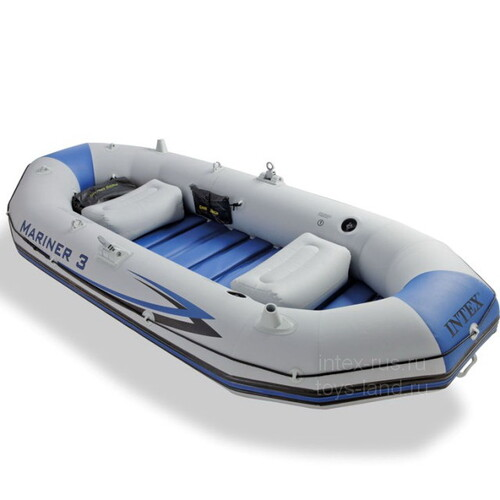 Надувная лодка Mariner-3 Set 297*127*46 см + насос и весла INTEX