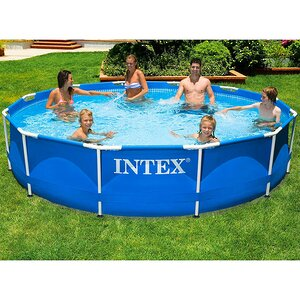 Каркасный бассейн Intex Metal Frame 366х76 см