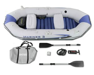 Надувная лодка Mariner-3 Set 297*127*46 см + насос и весла INTEX фото 6