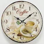 Настенные часы Coffee Time - Париж 34 см